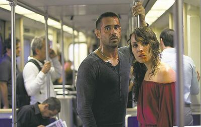 eOne Colin Farrell, left, and Noomi Rapace neither meet cute nor end up cute in Dead Man Down.