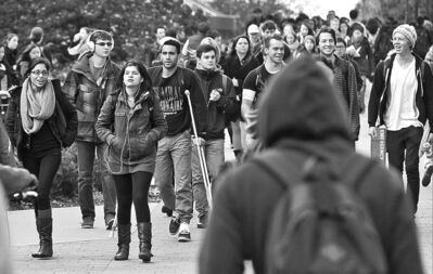 The UBC campus in Vancouver has seen heightened security measures following a series of sexual assaults.