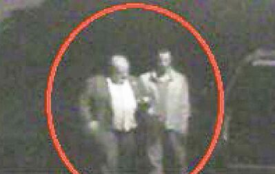 Surveillance photos of Toronto Mayor Rob Ford (left) and Alexander Lisi, Ford's friend.