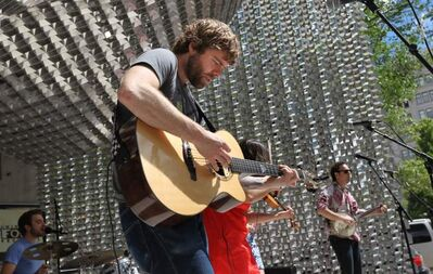 The Duhks perform in Old Market Square in July, 2010.