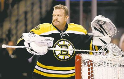 Winslow Townson / the associated press archivesEx-Bruins goalie Tim Thomas is in the final season of a four-year contract.