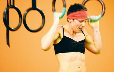 Nicole Fillion competes in a recent CrossFit event in Winnipeg. Simplicity is at the heart of CrossFit  -- no machines, no fancy equipment, no complicated workouts.