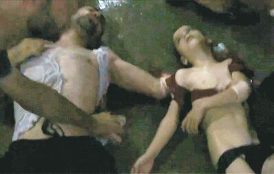 APTN / THE ASSOCIATED PRESS ARCHIVESA video image released by a U.S. government official shows a man and boy who were victims of an alleged chemical weapons attack in Syria.