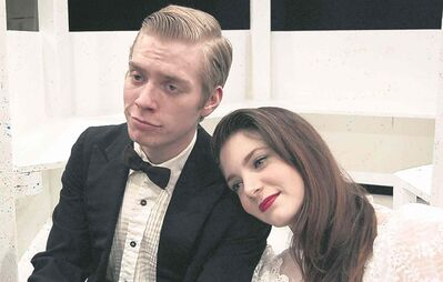 Logan Stefanson, left, as Casimir and Natasha Durand as Clair in Aristocrats.