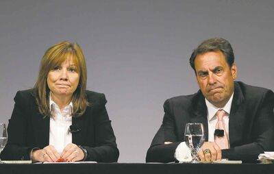 Carlos Osorio / The Associated PressGM CEO Mary Barra, with chief of global product development Mark Reuss, were exonerated by a report that said there is no evidence they knew about problems leading to the ignition-switch scandal earlier than December.