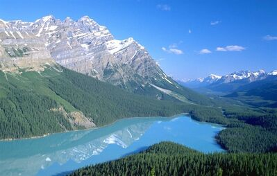 A view of Peyto Lake in Banff National Park is shown in this undated handout photo. A new report suggests travellers see Canada as one of the top 10 tourist destinations in the world.THE CANADIAN PRESS/HO - Travel Alberta