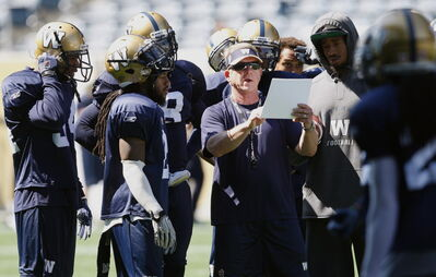 Blue Bomber coach Tim Burke heads to Vancouver looking to break a three-game losing streak.