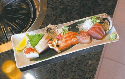 Selection of sashimi.