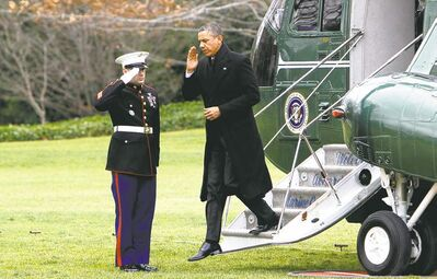 MCTU.S. President Barack Obama returns to the White House from Hawaii Thursday.