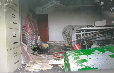 Wayne Glowacki / Winnipeg Free Press A fire at the Windsor Community Centre caused extensive damage, forcing the suspension of the summer camp program and putting others in limbo.