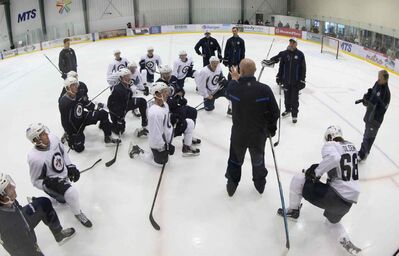 Winnipeg Jets Development Camp Tuesday at the MTS Iceplex in Winnipeg.