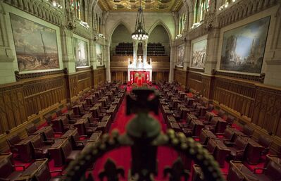 A view of the Senate chamber on Parliament Hill in Ottawa on Jan. 13, 2011. The Harper government will ask the Supreme Court of Canada to rule on the constitutionality of its Senate reform proposals. THE CANADIAN PRESS/Sean Kilpatrick