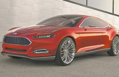The next-generation Mustang is expected to pull many design element from the Evos concept car that debuted at the Frankfurt motor show in 2011.