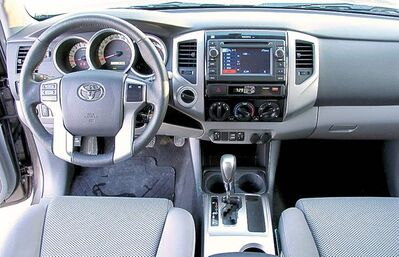 The touchscreen that is standard across the board is well integrated into the dash.