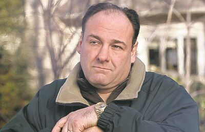 Gandolfini in his  powerhouse role as a Mob boss in the groundbreaking HBO TV series The Sopranos.