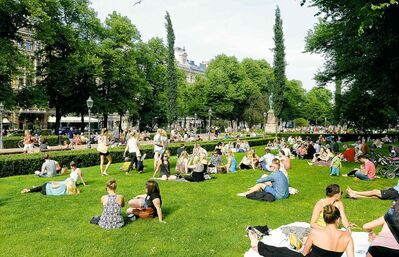 A summer day in Esplanade Park in Helsinki, Finland. Finns have the world's highest rate of type 1 diabetes.