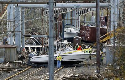 A scene of destruction on Oct. 31 in the wake of superstorm Sandy in New Jersey.