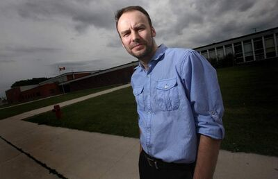 Matthew Stacey is opposed to using Manitoba Teachers' Society union dues for a classroom at the human rights museum.