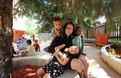 Lord Selkirk Park Childcare Centre supervisor Carly Sass enjoys playing and working with the children at the centre as they learn in an interactive environment.
