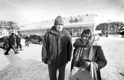Vera and Wolodymyr Senchuck talk about Extra Foods grocery store on Main Street closing.