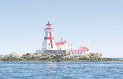 UNDATED --  The East Quoddy Lighthouse is one of the sights you�ll see while whale watching out of St. Andrews.