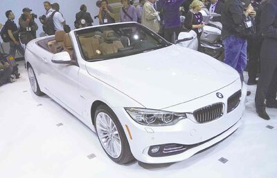 BMW 4 Series Convertible at the L.A. Auto Show.