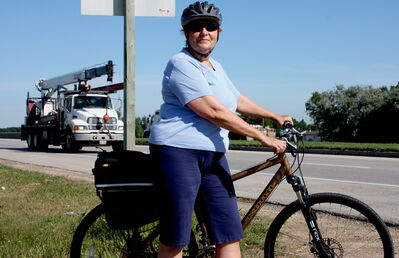 River East Neighbourhood Network trail committee co-chair Sigrun Bailey is concerned a planned connection of the Northeast Pioneers Greenway to Birds Hill Park may be broken up at points in East St. Paul.