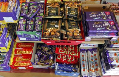 The store is well stocked with candy and chocolate from the UK.</p>