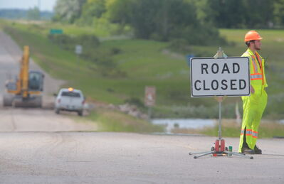 Many highways and roads in the Virden area, such as Highway 257 west of the community, are closed.