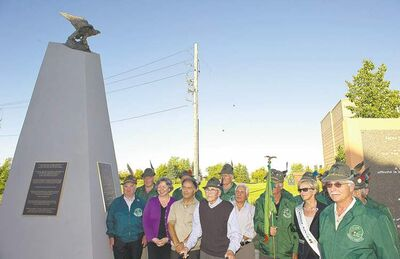 Members of Winnipeg's Italian community unveil a monument at the Caboto Centre dedicated to the unjust treatment of Italians during the Second World War.