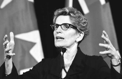 FRANK GUNN / THE CANADIAN PRESSKathleen Wynne will be Canada�s first openly gay premier when she assumes office in Ontario. She will be the country�s sixth female premier.,  speaks at a news conference in Toronto, Sunday, Jan.27, 2013.THE CANADIAN PRESS/Frank Gunn