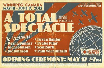 Total Spectacle handbill designed by Brendon Ehinger.
