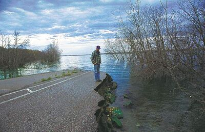 Devils Lake has caused persistent flooding problems near Grand Forks, N.D.