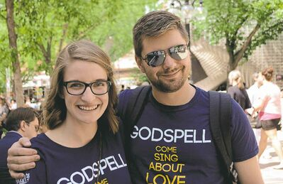 Emma Stefanchuk  and Wes Rambo star in Godspell.