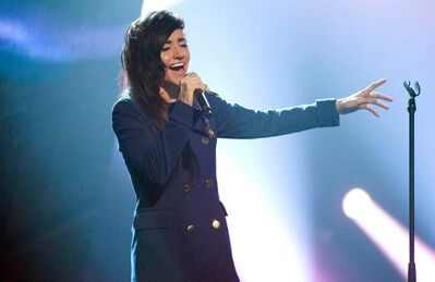 Lights performs at the 2012 Juno Awards in Ottawa.
