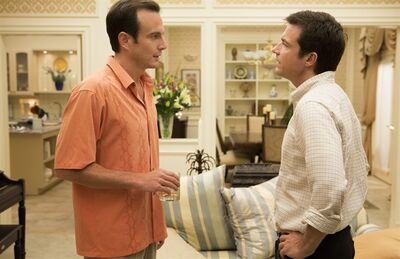 """This undated publicity photo released by Netflix shows Will Arnett, left, and Jason Bateman in a scene from """"Arrested Development,"""" premiering May 26, 2013 on Netflix. (AP Photo/Netflix, Michael Yarish)"""