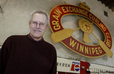 Bruce Peloquin has been a mainstay at the Grain Exchange Curling Club for more than 20 years.