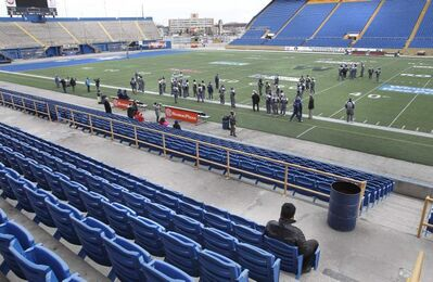 Tom Goodhand was among a handful of fans on hand in Canad Inns Stadium Friday for the Winnipeg Blue Bombers' last practice at the location.