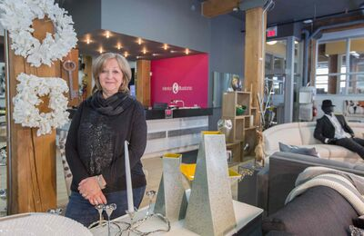 Magda Zelickson of Interior Illusions says more display space and big, bright windows make a difference in their new location.