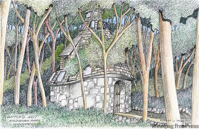 The prints, such as this one of the Witch's Hut at Kildonan Park, will be shown in January at the Millennium Library.