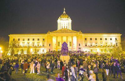 Zombies surrounded the legislature recently, but ghosts are said to lurk year-round.