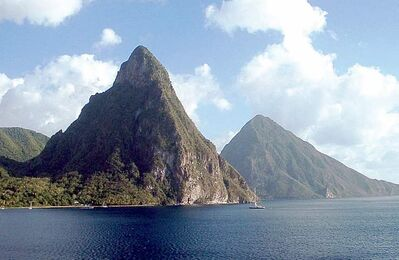 The Twin Pitons of St. Lucia are one of the enduring landmarks.