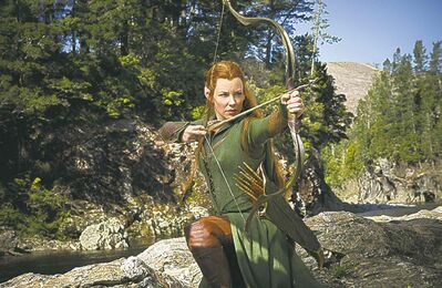 Tauriel, Evangeline Lilly's character, is not in the novel The Hobbit.