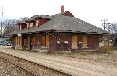 A 2005 file photo of the Minnedosa train station.