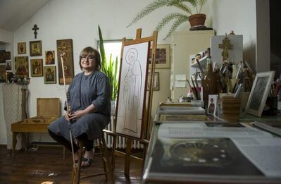 Iconographer Vera Senchuk: 'God is the focal point, but (the icon) is the vehicle.'