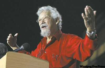 TYLER BROWNBRIDGE / THE CANADIAN PRESS archives David Suzuki says the Bipole III power line route shouldn't be a political issue.