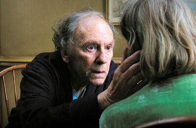 Jean-Louis Trintignant in a scene from Amour.''