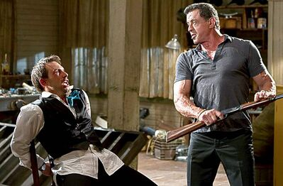 Stallone (right) and Slater in Bullet  to the Head.