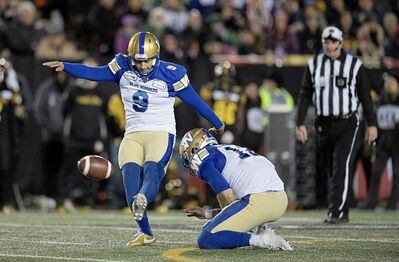 Bombers kicker Justin Medlock connected on six of seven field goal attempts Sunday, tying a Grey Cup record.