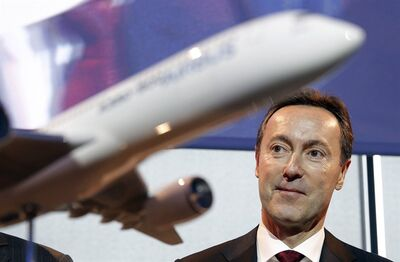 Airbus CEO Fabrice Bregier in Toulouse, France, Monday, Jan. 13, 2014. THE CANADIAN PRESS/AP, Christophe Ena